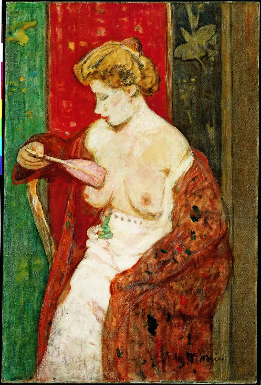 James W. Morrice | Femme au peignoir rouge