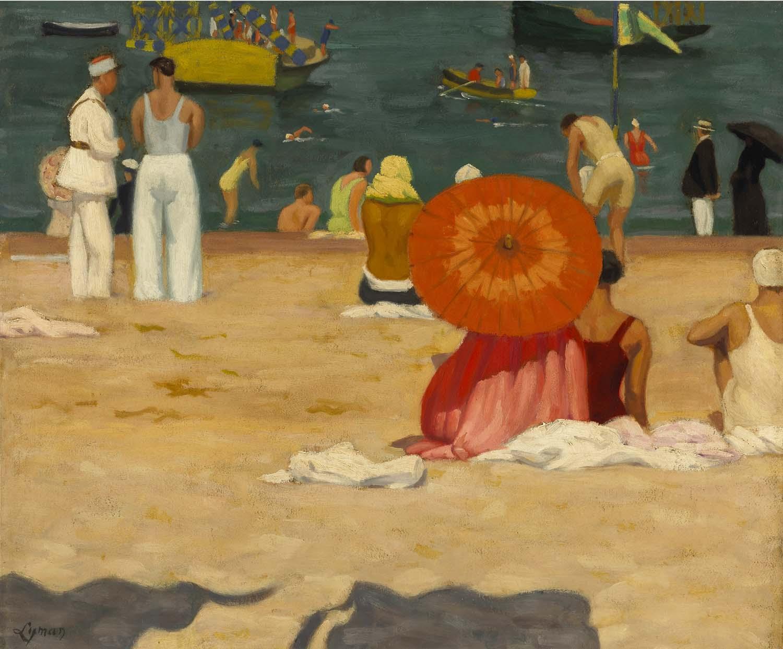John Lyman, À la plage (Saint-Jean-de-Luz)