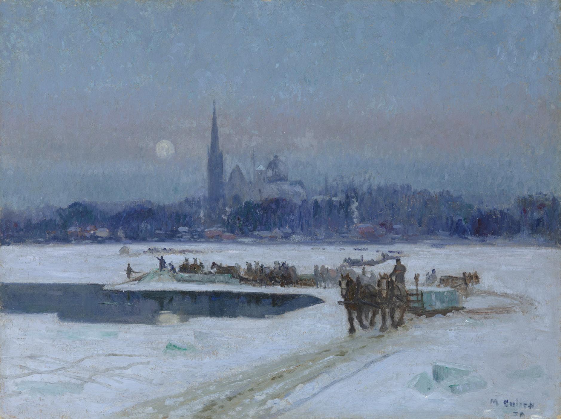 Maurice Cullen, Coupeurs de glace, Longueuil