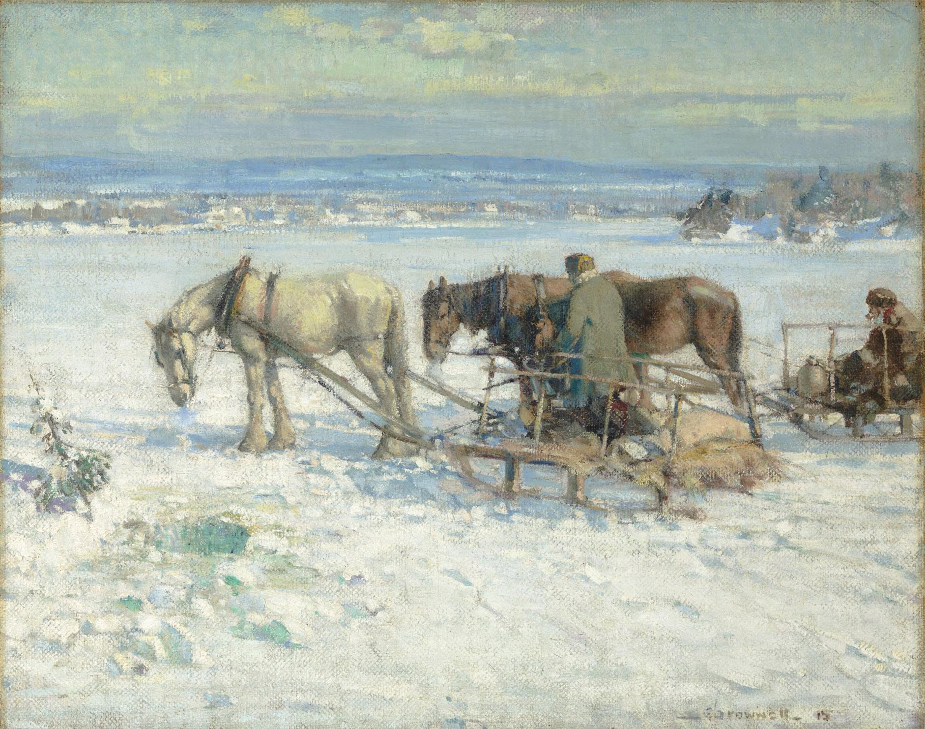 Franklin Brownell, Pêche sur glace, collines de la Gatineau