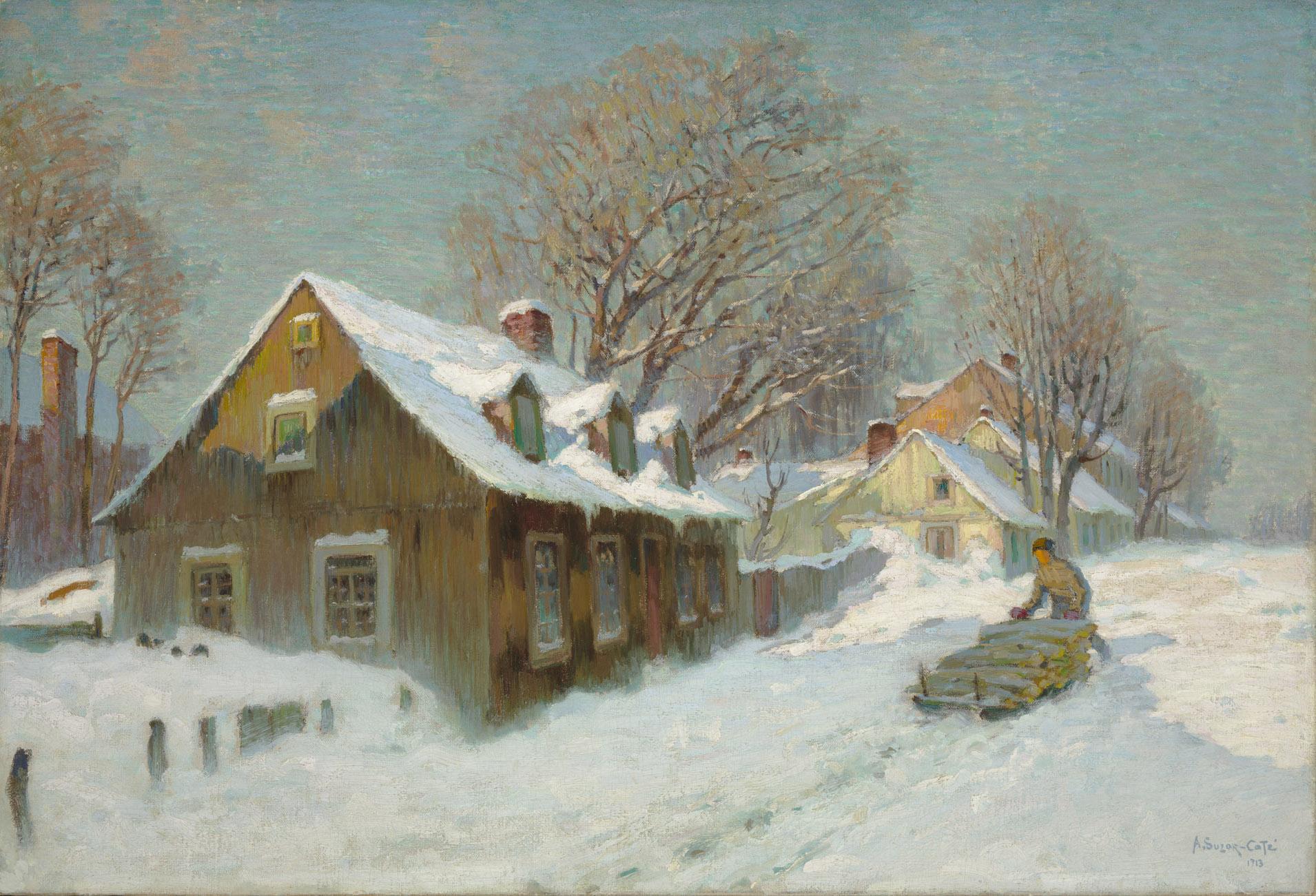 Suzor-Côté, Village en hiver
