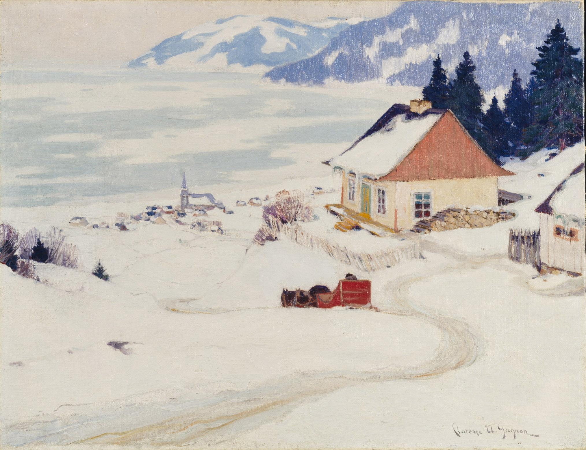 Clarence Gagnon, La carriole rouge